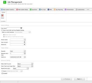 Snapshot of New Job Management Scheduling Feature